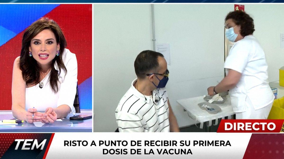 Risto Mejide se vacuna en directo