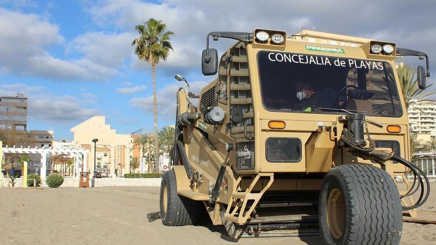 Fuengirola retira más de 200 toneladas de residuos arrastrados por Filomena