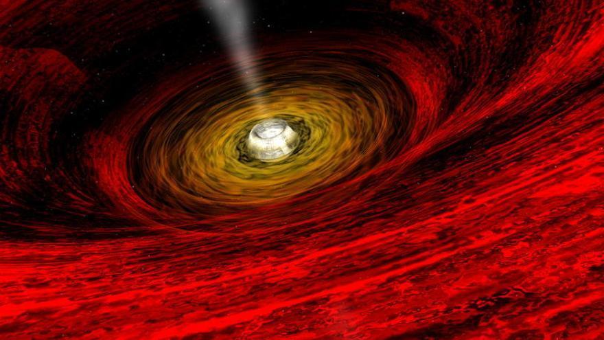 La NASA capta la mayor explosión de un agujero negro