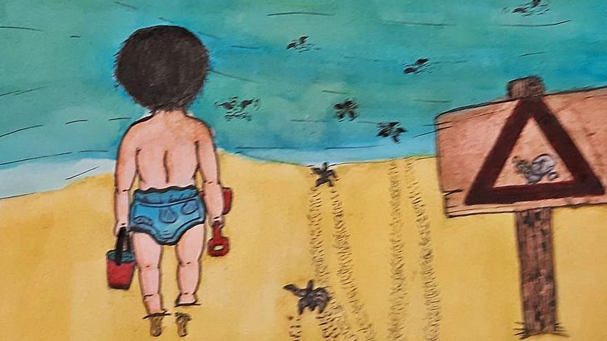 Uns 350 alumnes de Cullera participen en un concurs de dibuixos amb consciència marina