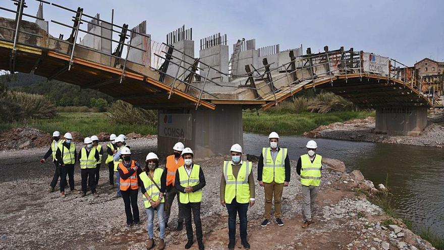 Cabrianes recuperarà la connexió pel nou pont ampliat el mes de setembre