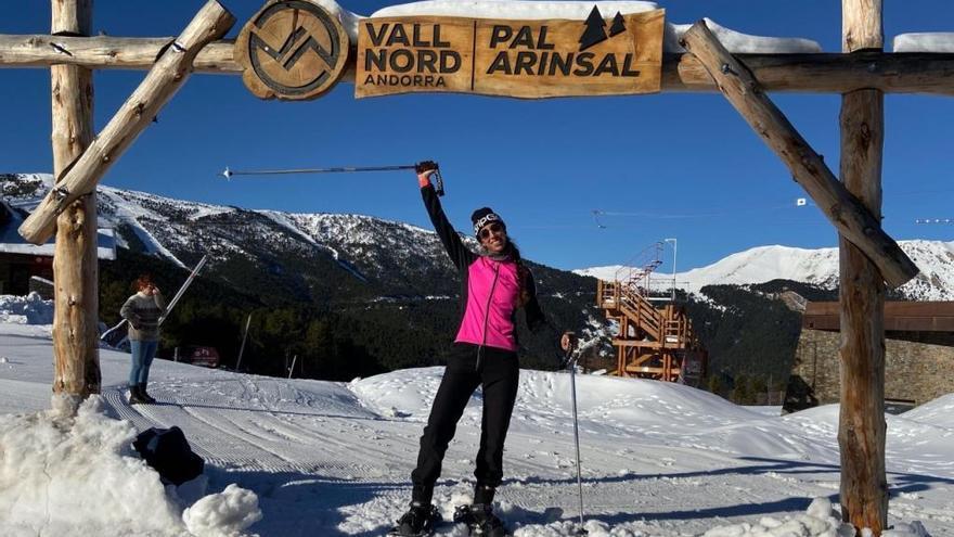 Sandra Alonso prepara en la nieve de Andorra la temporada 2020