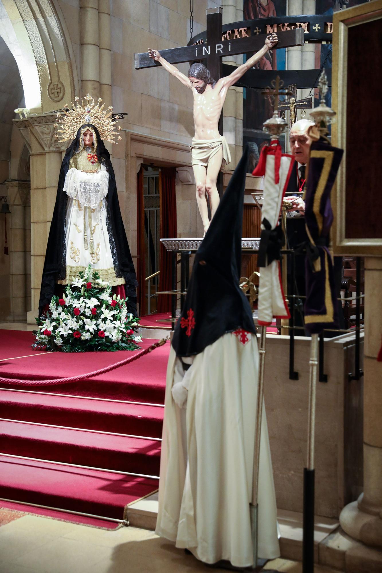 Celebración en San Pedro del rosario y acompañamiento a la Virgen de la Soledad