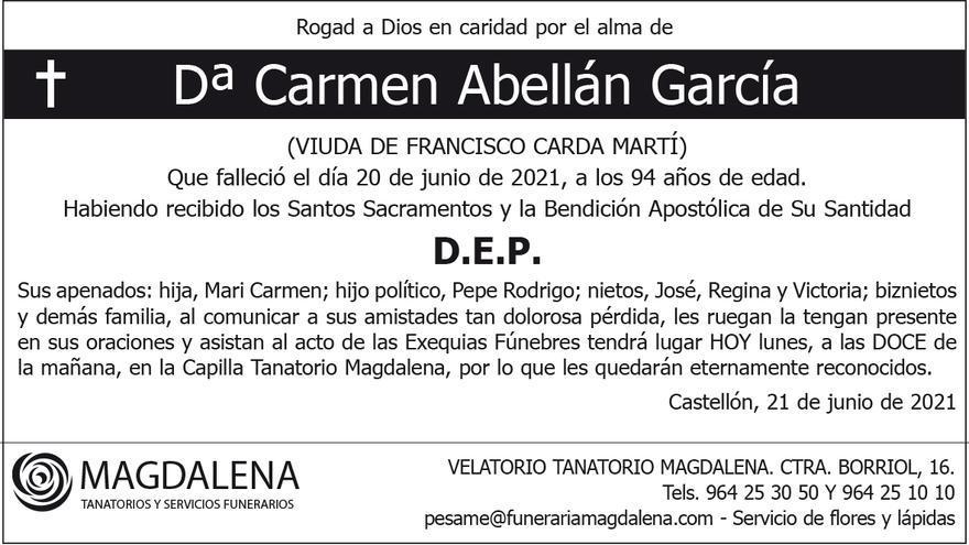 Dª Carmen Abellán García