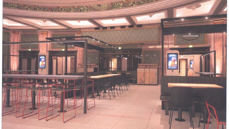 McDonald's ya puede servir sus hamburguesas en los antiguos cines Elíseos
