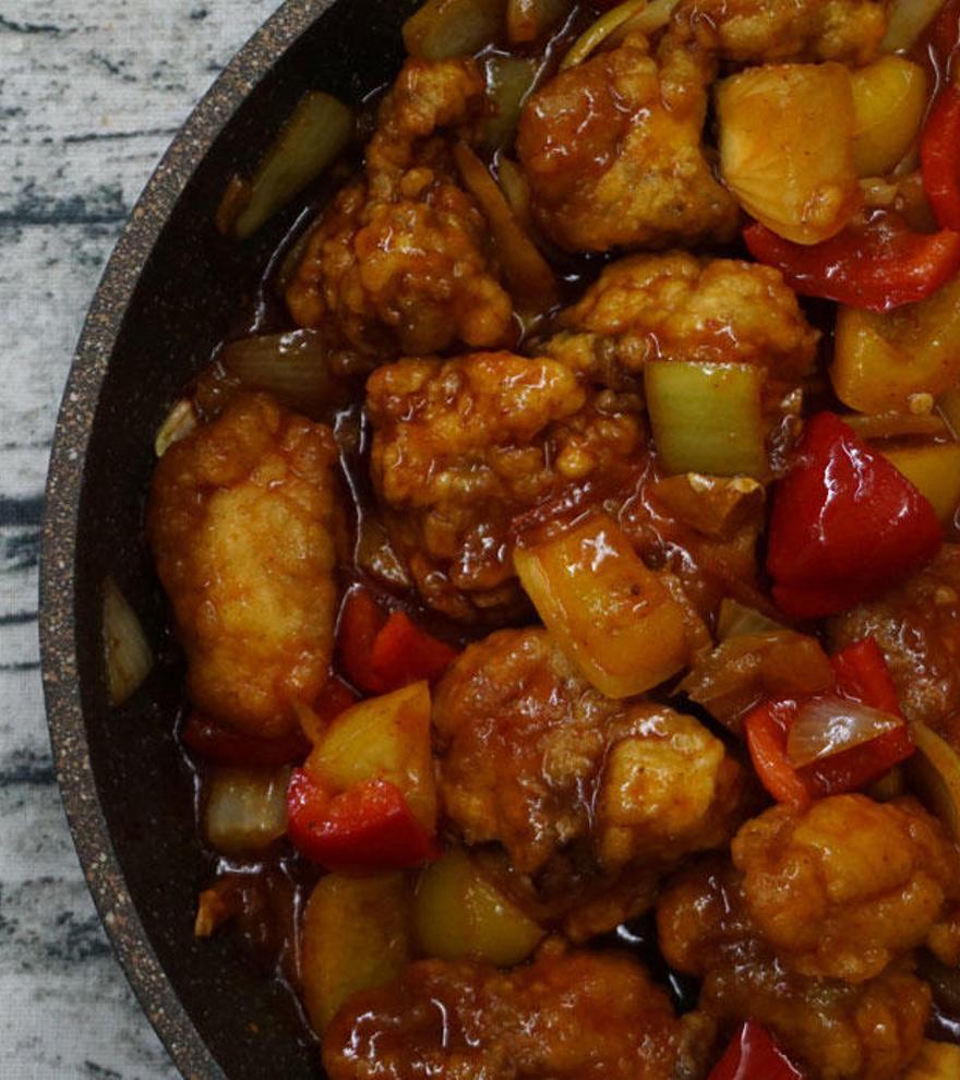 Pollo agridulce, un clásico de la gastronomía china