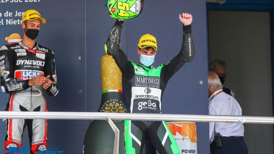 Fermín Aldeguer, campeón de Europa de Moto2
