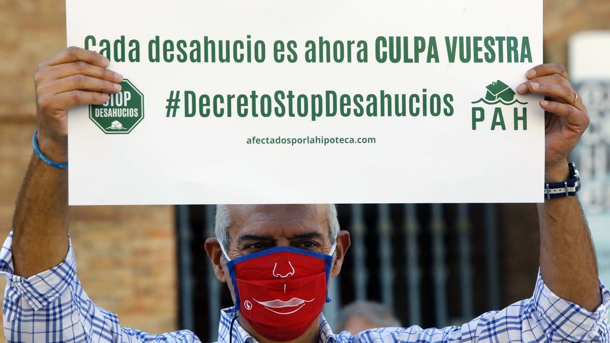 Protesta en pandemia para exigir la paralización de los desahucios
