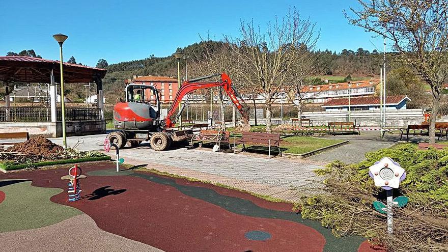 La ampliación del parque La Güelga, en Cancienes, estará concluida a finales de marzo