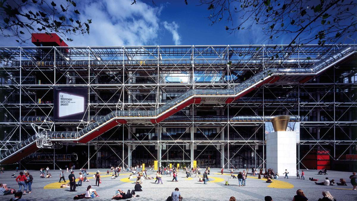 Exterior of the Pompidou Center in Paris