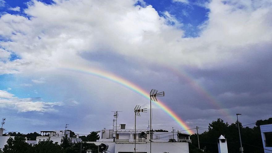 No un arco iris, sino dos
