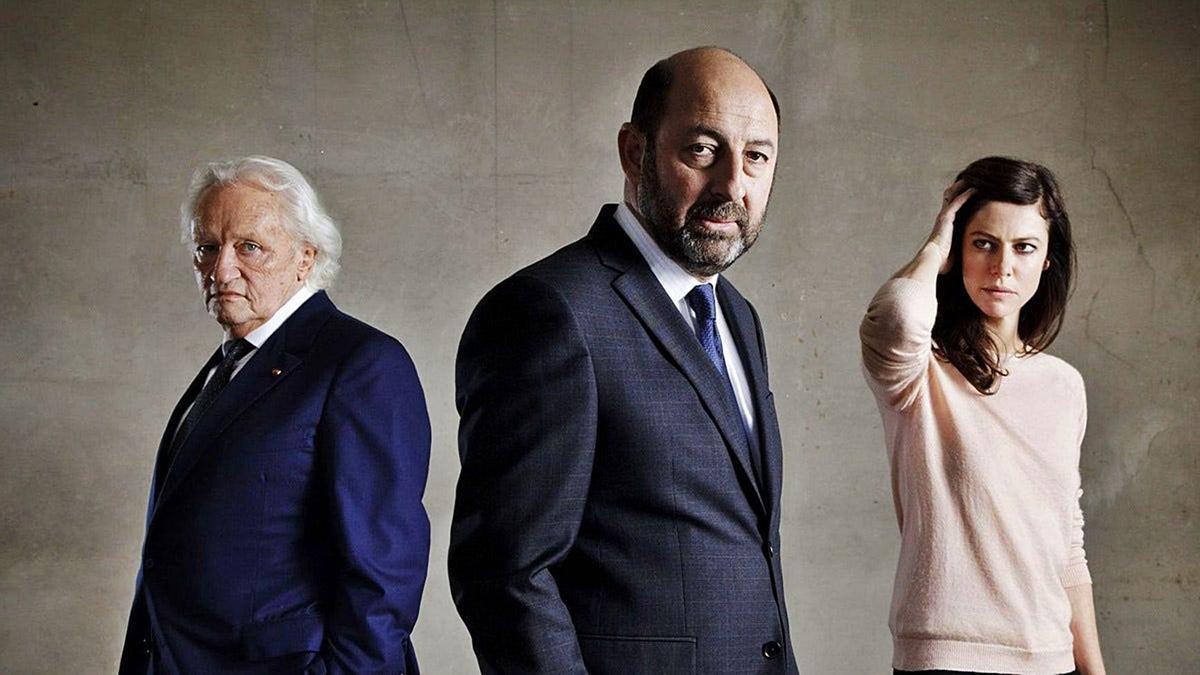 Niels Arestrup, Kad Merad y Anna Mouglalis en «Baron  noir». / Canal+.
