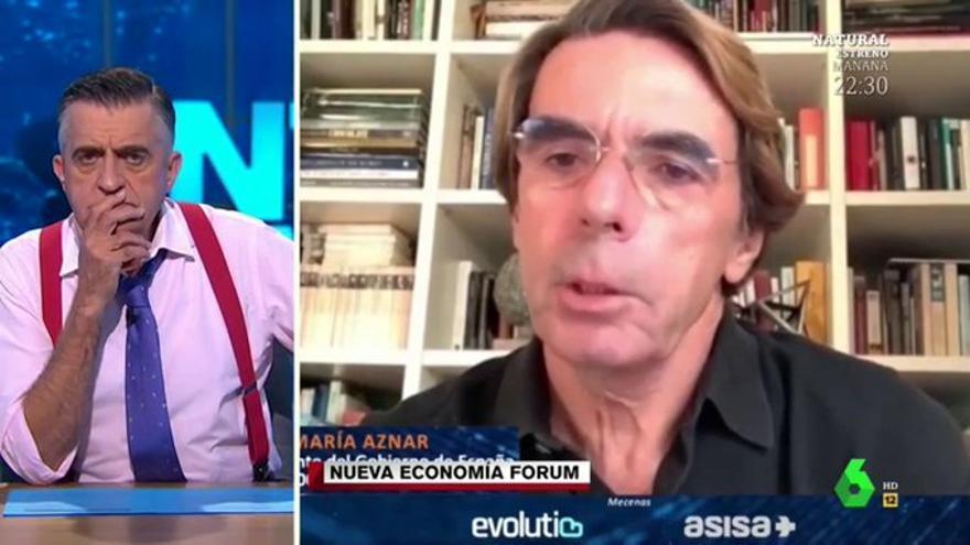 Wyoming bromea sobre el nuevo look de Aznar