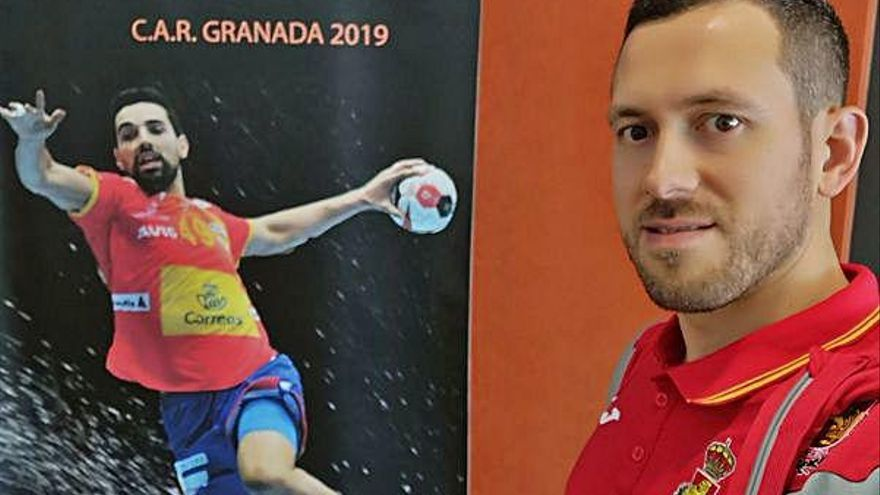 Sergi Baguer es concentra amb Espanya