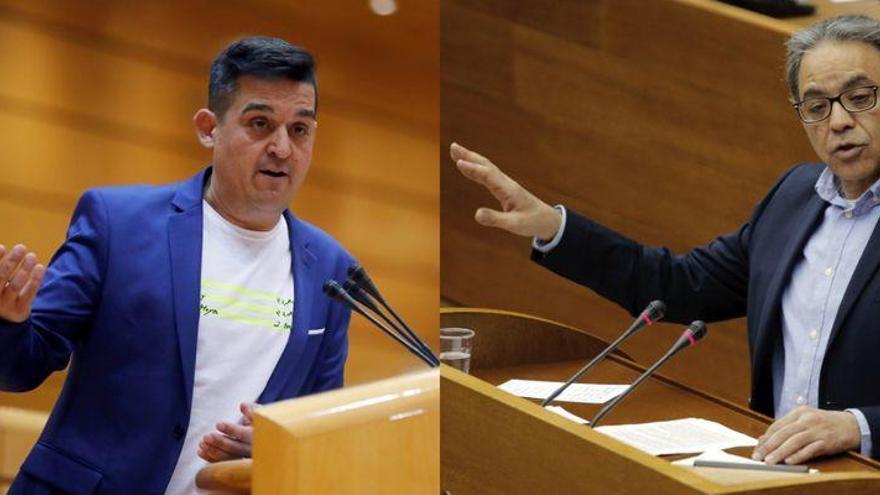Rifirrafe entre Manolo Mata (PSPV) y Carles Mulet (Compromís)