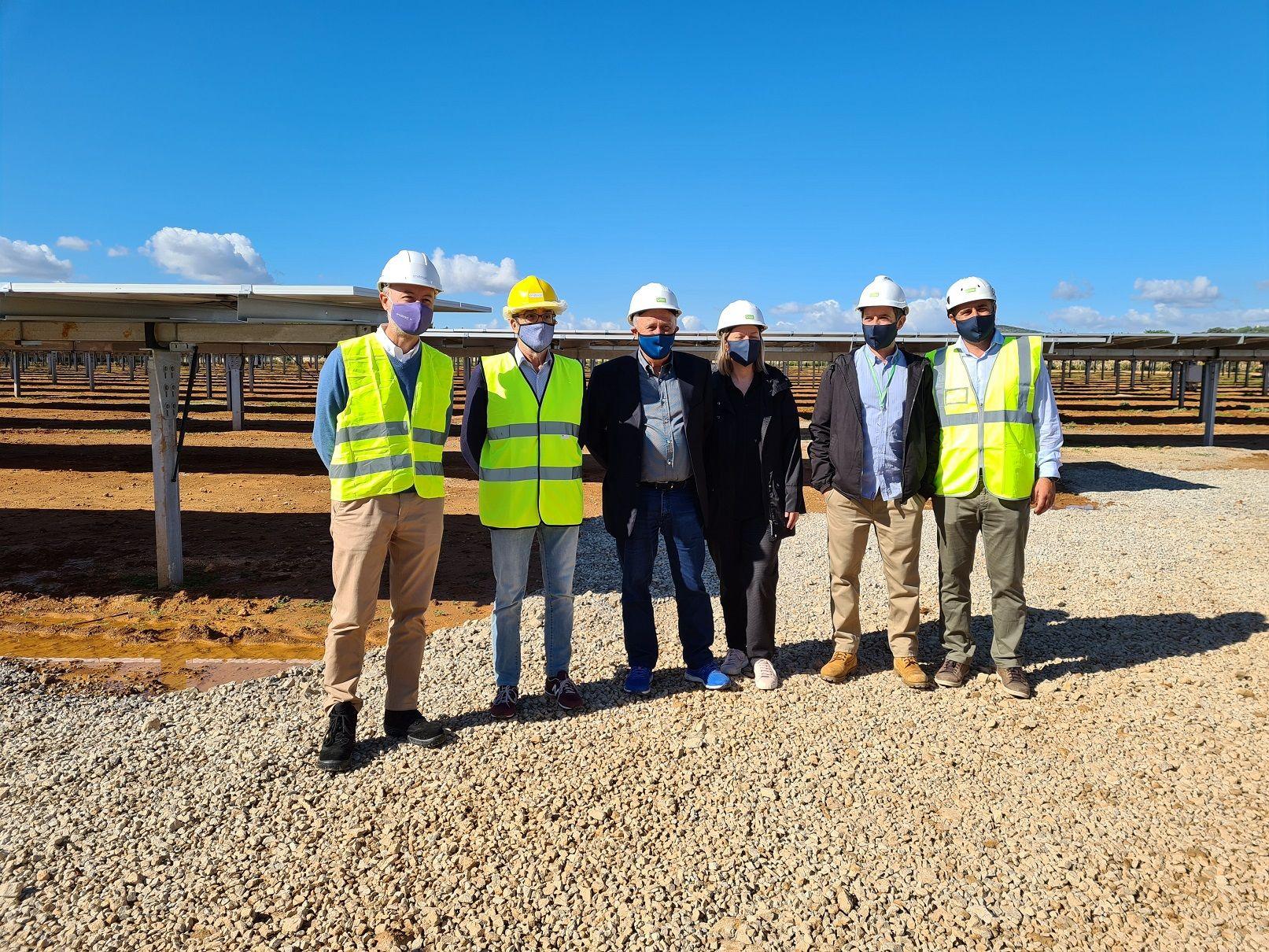 Visita al mayor parque fotovoltaico de España