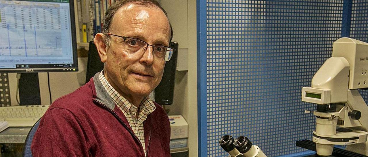Antonio Ferrer Montiel, en uno de los laboratorios del campus de Elche de la UMH.   ANTONIO AMORÓS