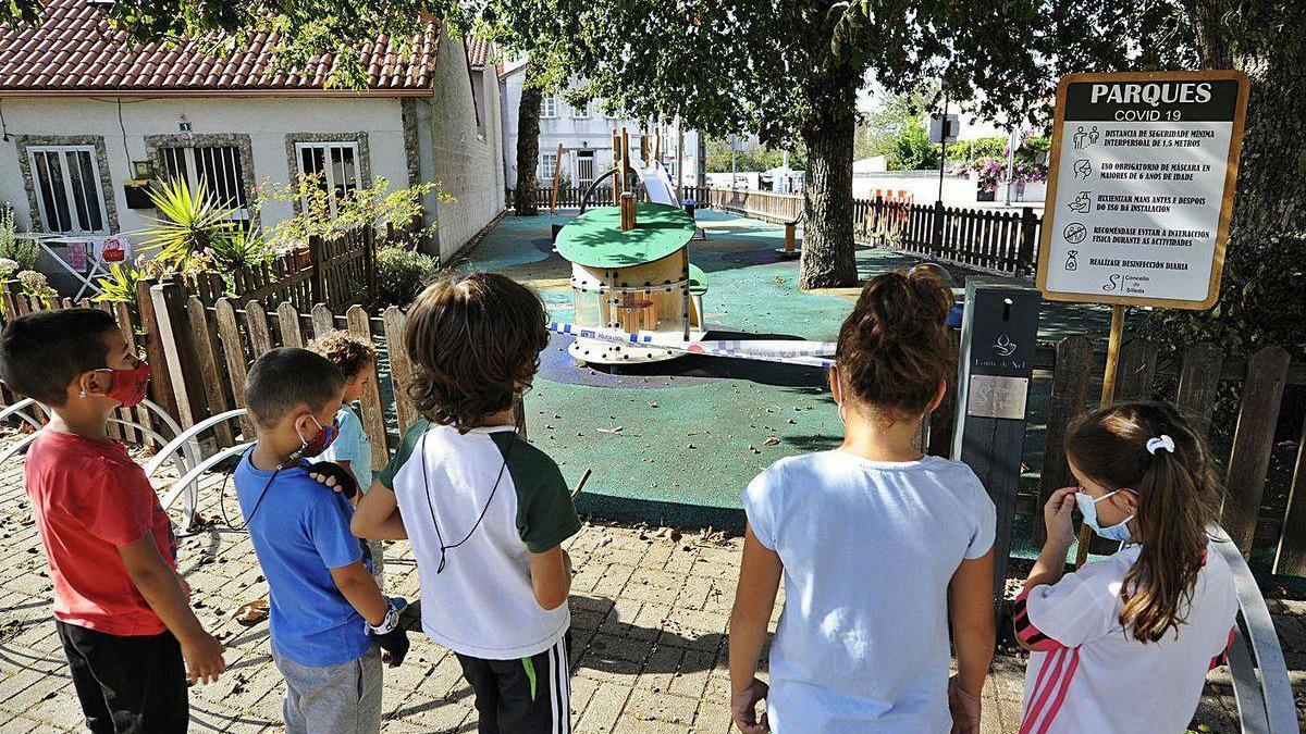 Silleda ya decretó el lunes el cierre de los parques infantiles.