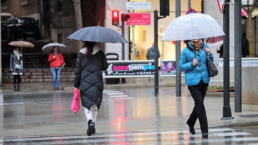 Lluvia intensa hoy en Baleares