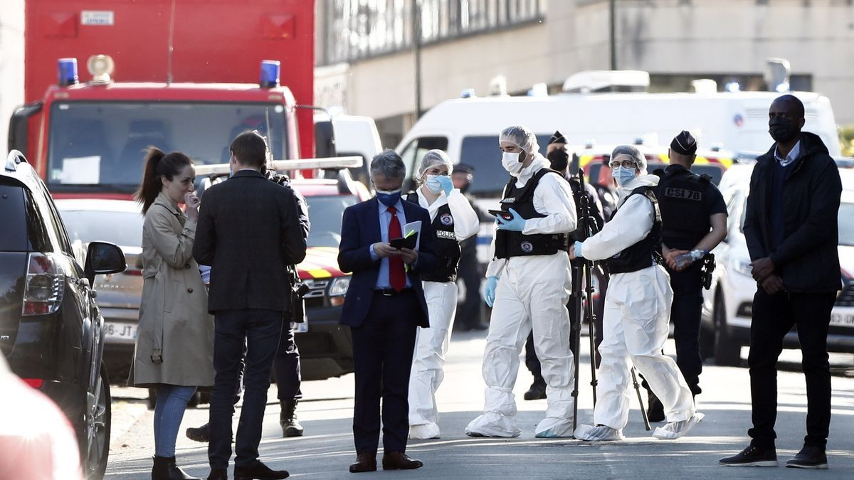 Despliegue policial tras el asesinato en Rambouillet.