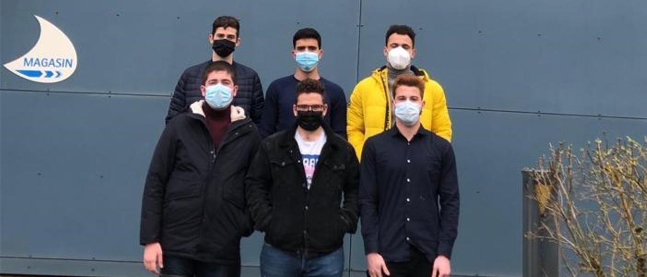 Seis de los jóvenes que se forman en Francia