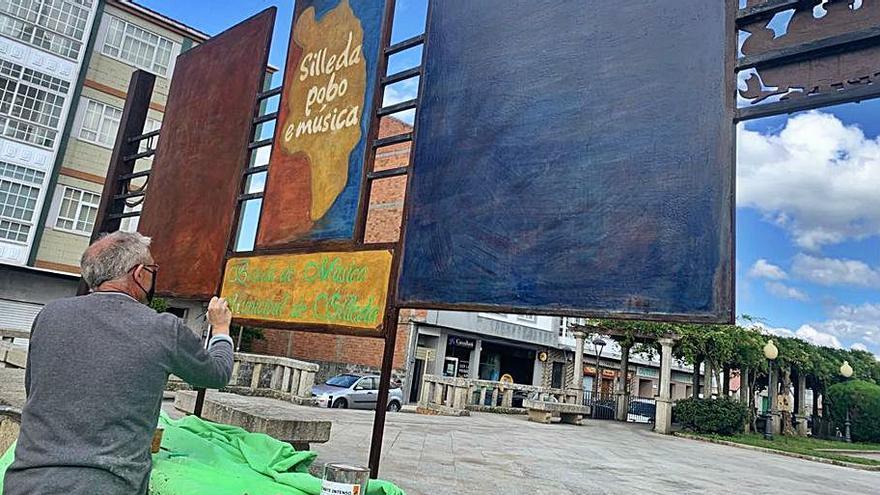 El Concello de Silleda repara los murales de la localidad