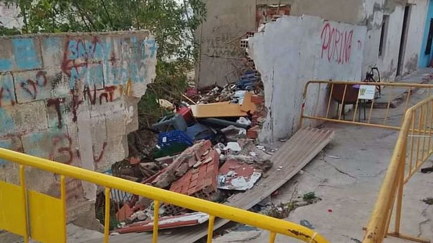 Más hundimientos en la calle San Bruno obligan a Callosa a actuar de urgencia