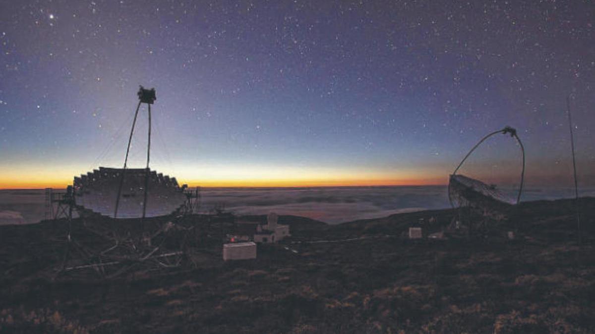 Los telescopios Magic en el Observatorio del Roque de los Muchachos.