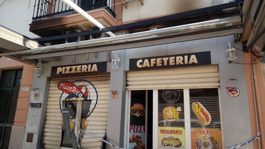 Incendio sin heridos en una pizzería de Palma del Río