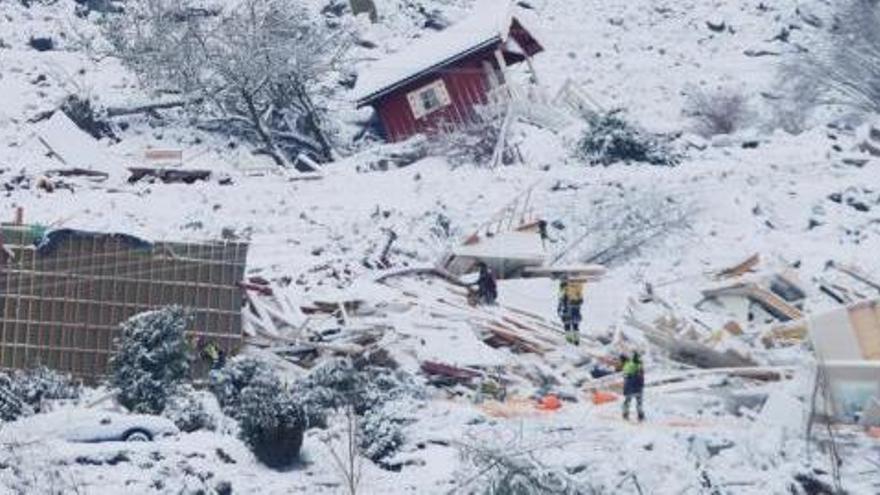 El número de muertos por el corrimiento de tierra en Noruega asciende a cinco