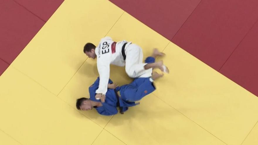 El judoca español Niko Sherazadishvili avanza a octavos de final