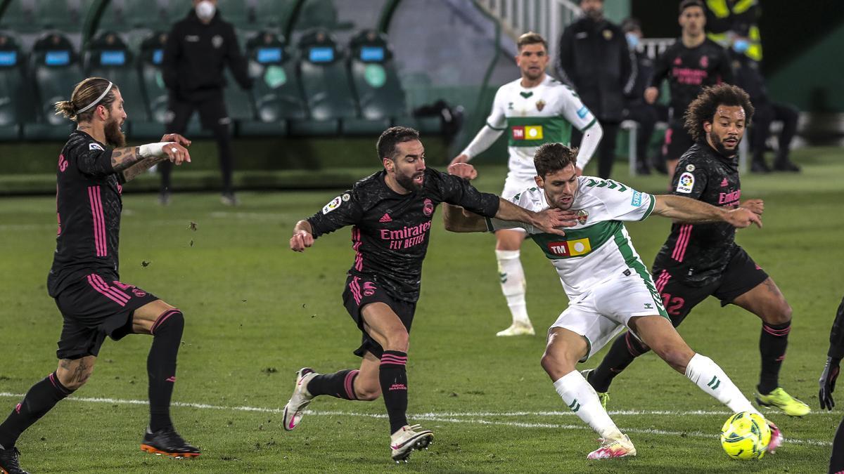 Último Elche-Real Madrid disputado la temporada 2020-2021