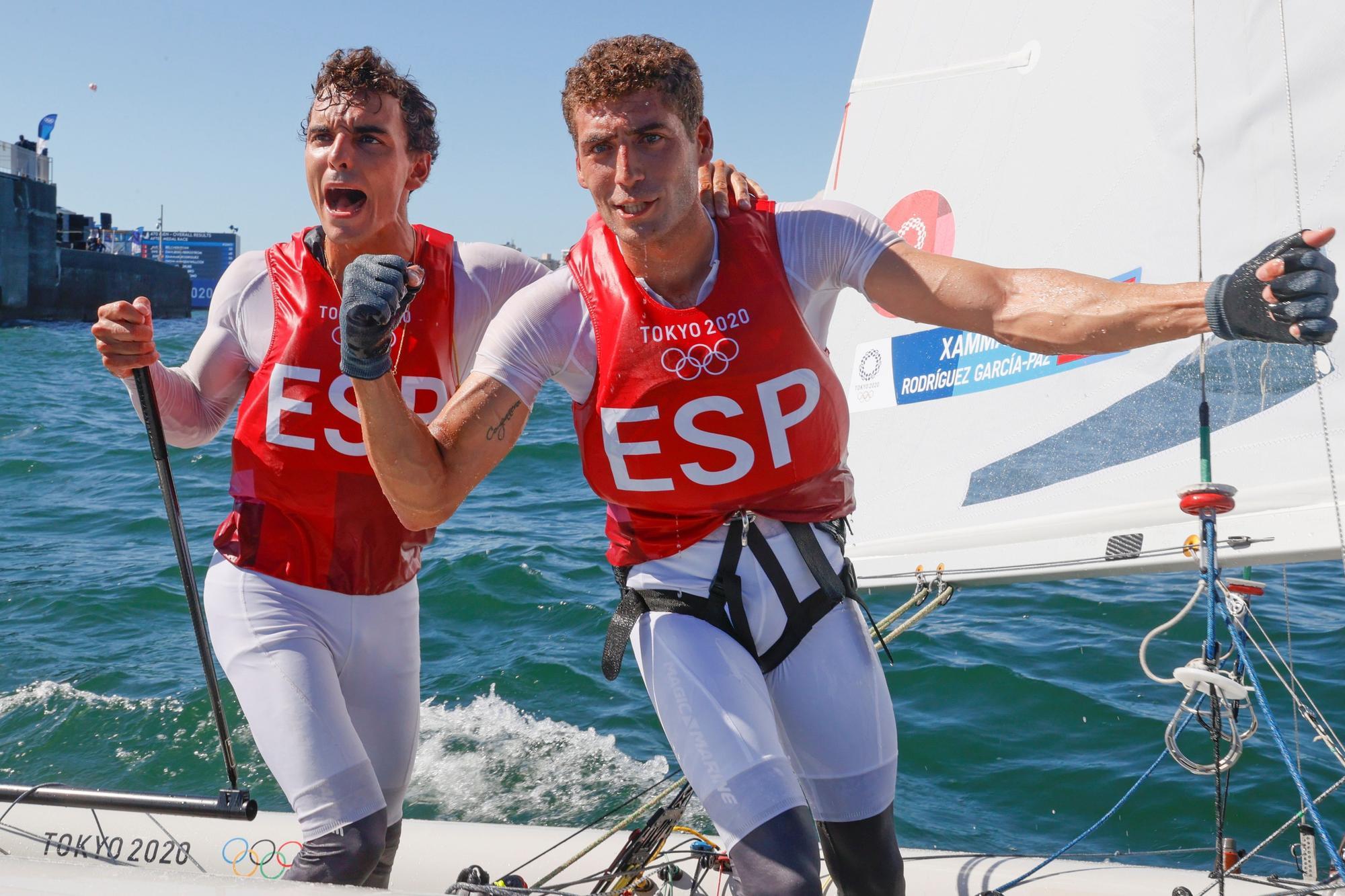 Nico Rodríguez y Jordi Xammar ganan el bronce en el 470 de vela en Tokyo 2020