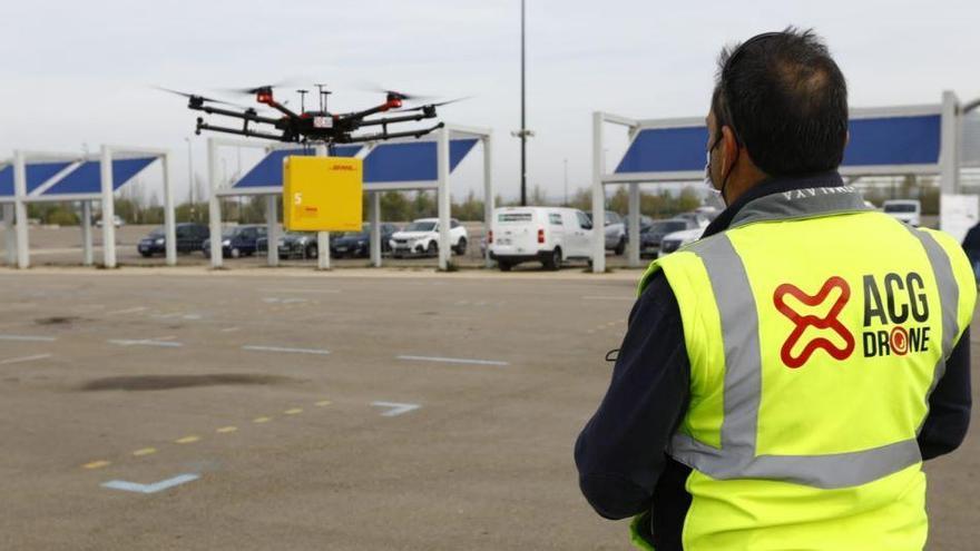 Zaragoza se convierte en el primer laboratorio urbano de drones de Europa