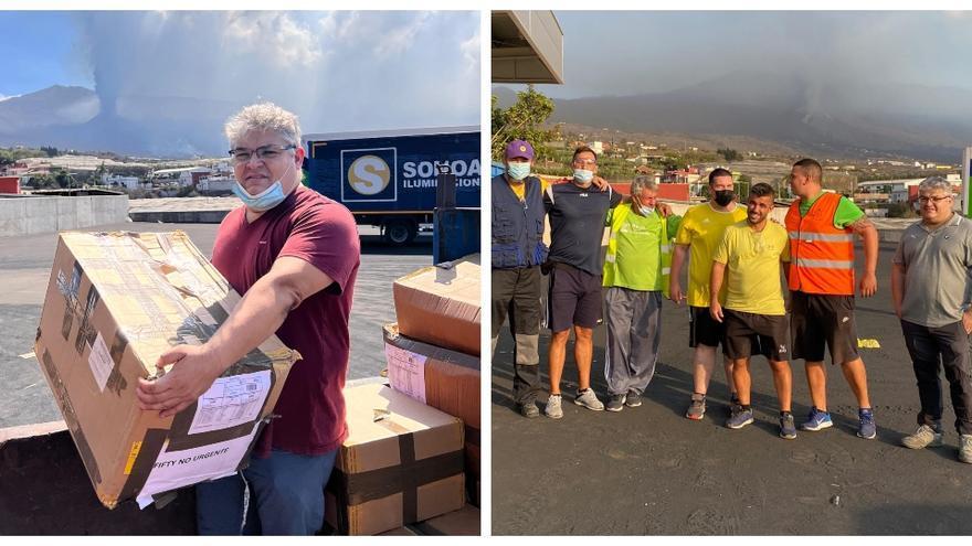 'Erupción' de solidaridad: un castellonense viaja en el puente hasta La Palma para ayudar a los afectados por el volcán