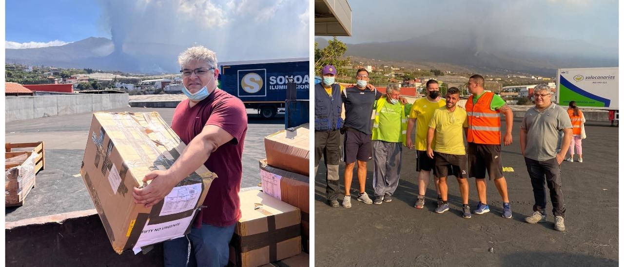 Yesús Cebrián ha pasado el puente de octubre en La Palma ayudando en todo lo que ha podido.