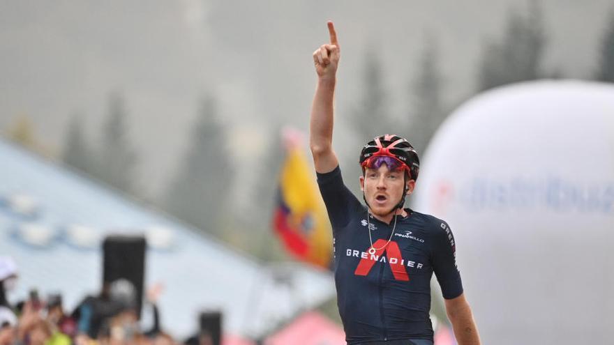 Ganador etapa 15 Giro de Italia: Tao Geoghegan Hart