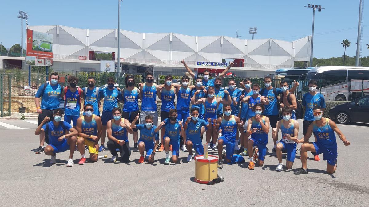 El equipo del UCAM Cartagena que ha logrado el ascenso
