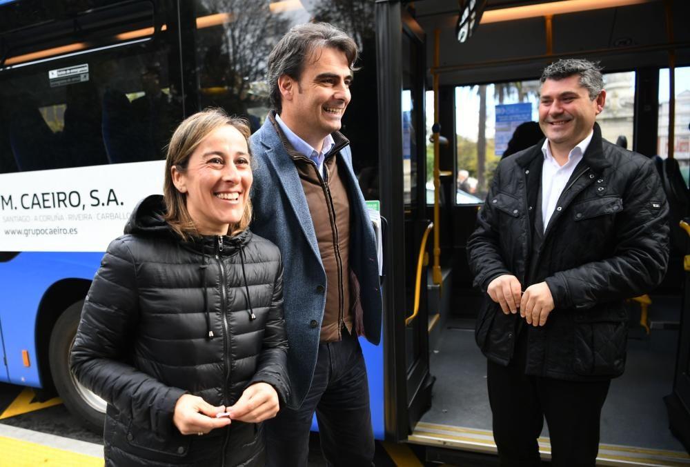 Llegada de los buses interurbanos al centro de A C