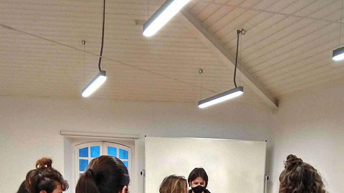 Uno de los talleres del proyecto SenteArte Integra