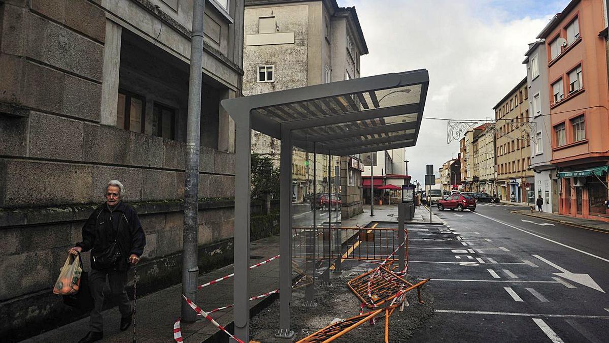 Rúa de Aleixandre Bóveda en la que se produjeron los hechos denunciados por las niñas.     // IÑAKI ABELLA