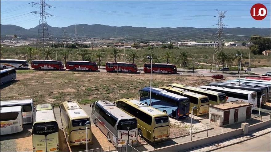Concentración de autobuses escolares