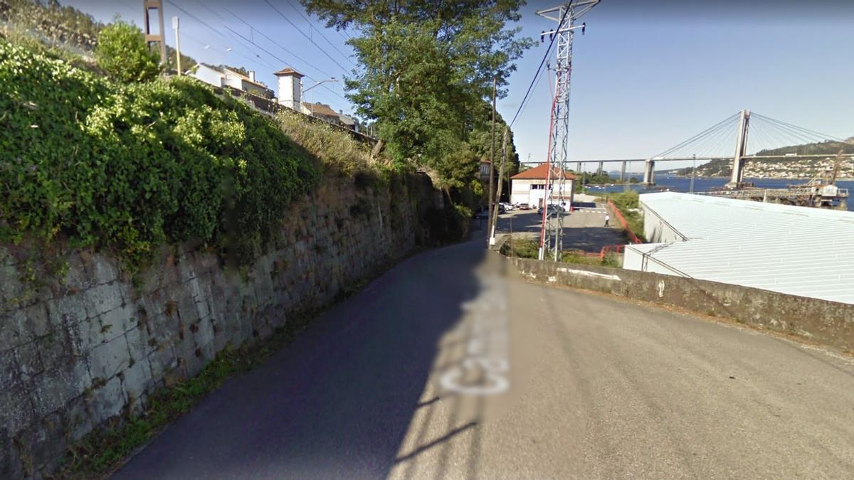 Camiño Baixada á Vieira, en Rande.