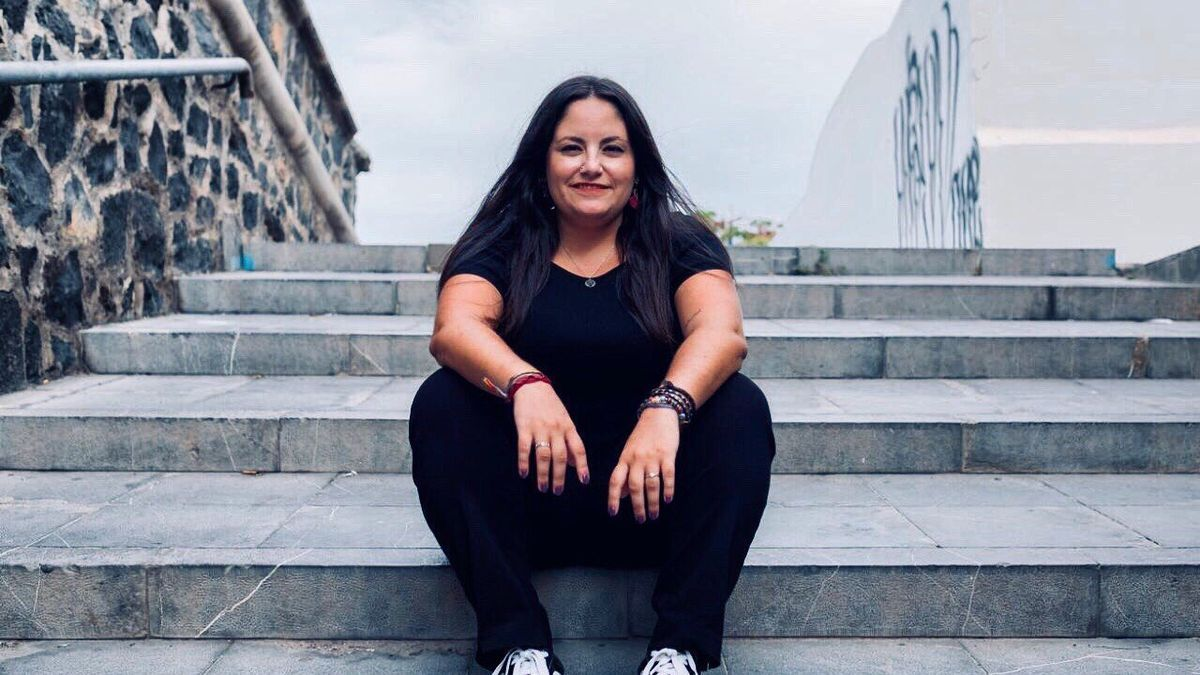 La recién elegida coordinadora general de Podemos Canarias, Laura Fuentes