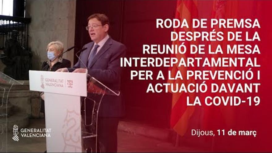 DIRECTO | Puig anuncia las nuevas restricciones en la C. Valenciana