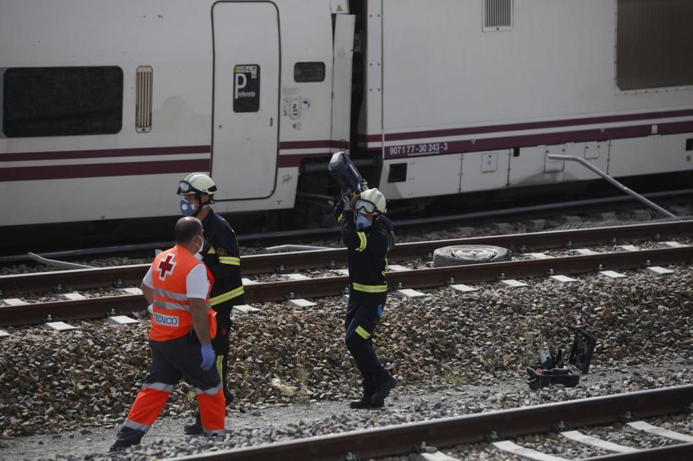 Accidente de tren en La Hiniesta