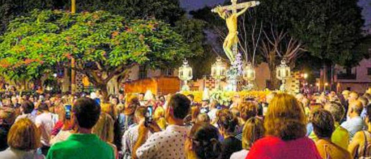 Imagen de archivo de la procesión del Cristo.