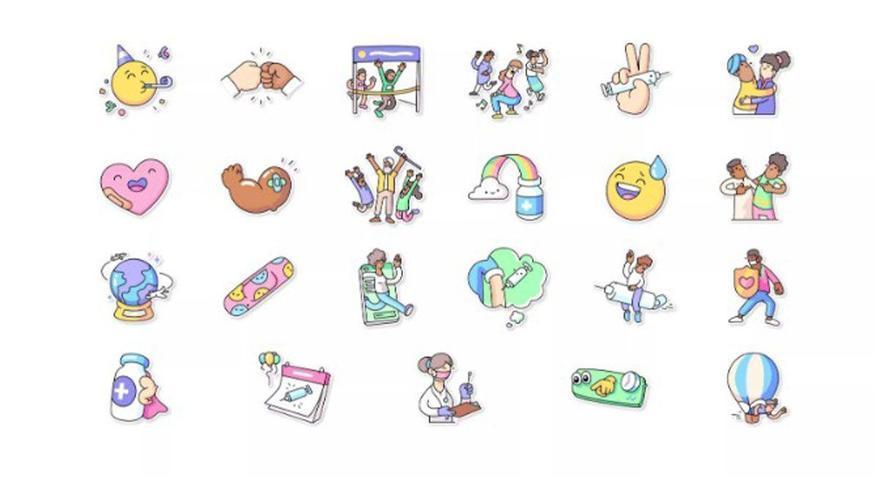 WhatsApp incorpora varios 'stikers' para expresar sentimientos sobre vacunas