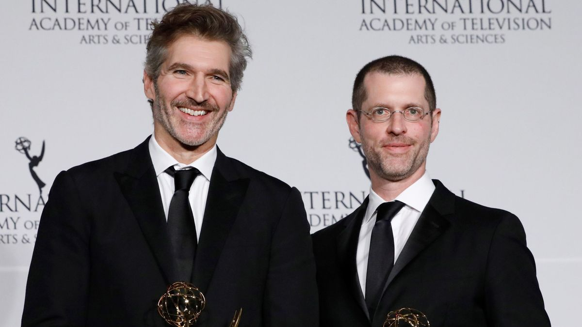 File photo of the creators of the series & # 039; Game of Thrones & # 039;, David Benioff (i) and DB Weiss (r).