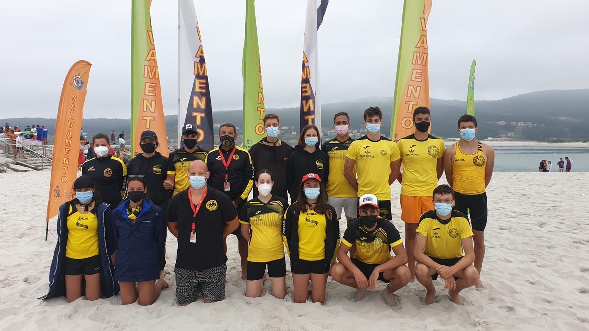 El equipo zamorano que compitió en Laxe (Coruña)